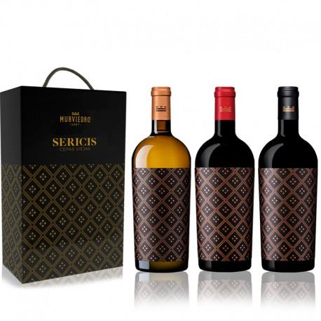Estuche Sericis - 3 botellas de vino