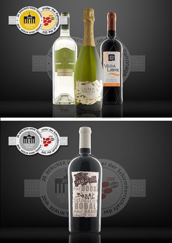 20th Berlin Wine Trophy: Berliner Gold 2016, Berliner Silber 2016