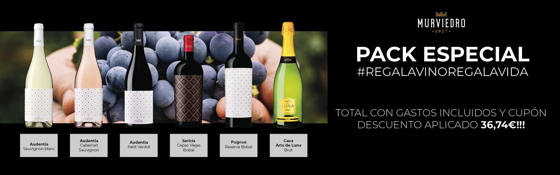 Pack espevial de vino Murviedro #RegalaVinoRegalaVida